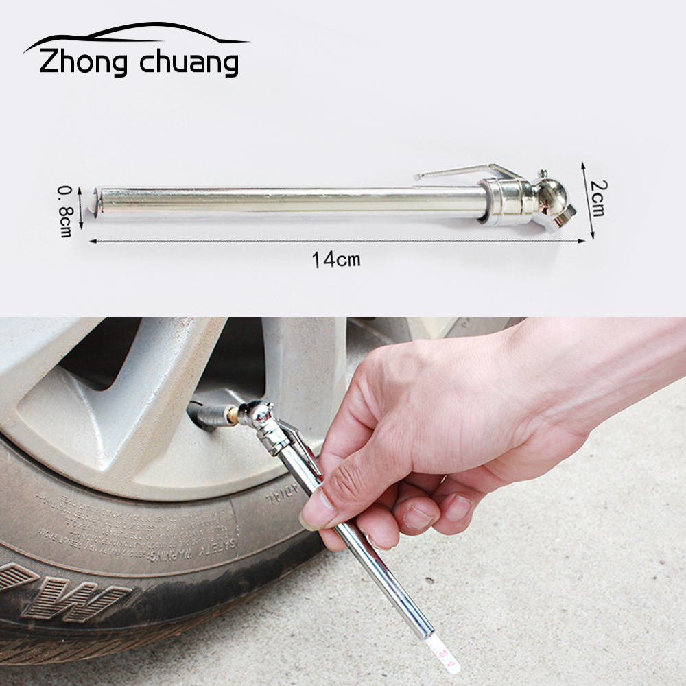 Car Tire Pressure Pen Car Portable Tire Pressure Gauge Barometer Barometer Tire Pressure Gauge Tire Pressure Measuring Tool