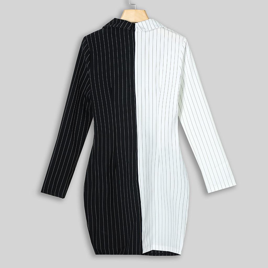 New Dresses Women Dress Office Casual Blazer White Black Dress Autumn Winter Slim Suit