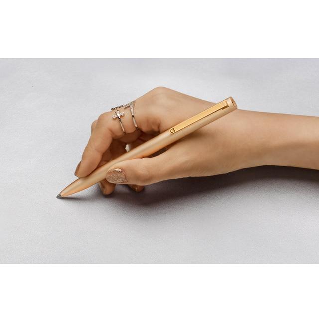 Original Xiaomi Mijia Metal Sign Pens PREMEC Smooth Switzerland Refill 0.5mm Signing Pens Mi Aluminum Alloy Pens Black Ink 4