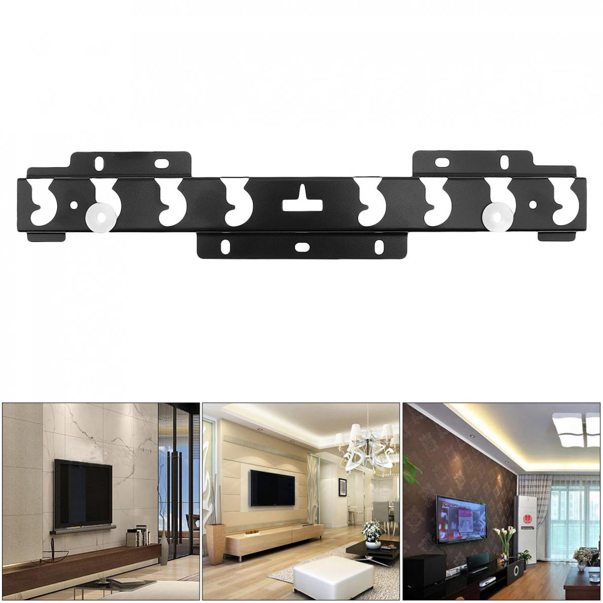 High Quality Black Universal TV Wall Mount Bracket Fixed Flat Panel TV Frame for 32-60 Inch LCD LED Monitor Flat Panel