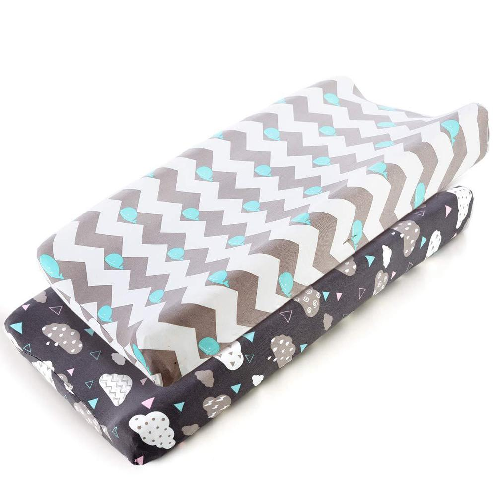 Baby Nappy Changing Pad Soft Changing Jersey Fabric Changing Table Baby Waterproof Mattress Bed Sheet Infant Change Mat Cover