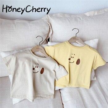 цена на 2020 Summer baby T-shirt New Girls Korean Summer Cartoon Printed Children Short-Sleeved