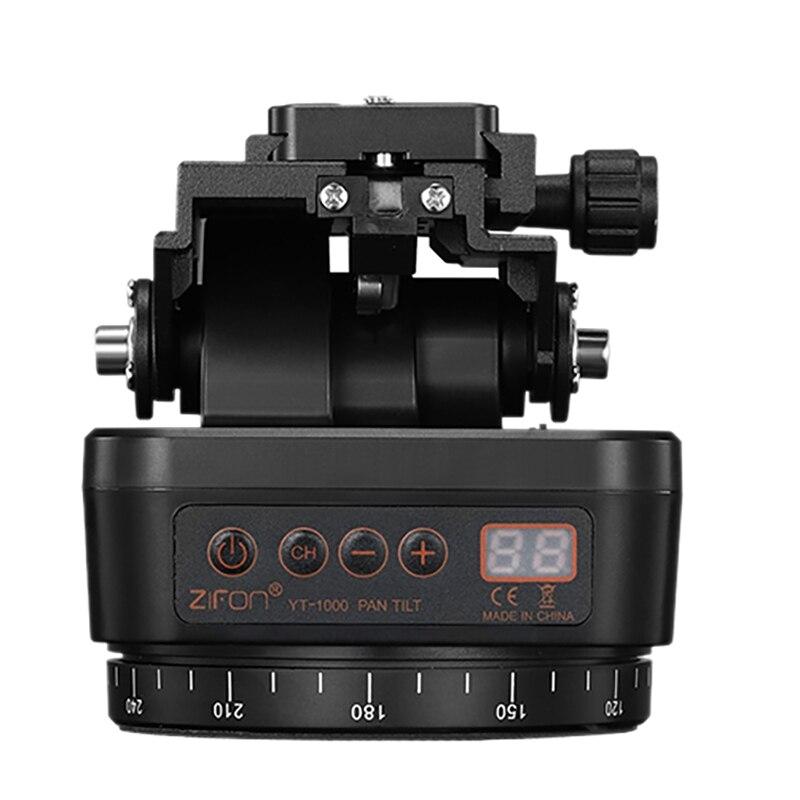 ZIFON YT-1000 Auto Motorized Pan Tilt Tripod PTZ Remote Control Rotating Video Stabilizer for Smartphone Tripod Heads