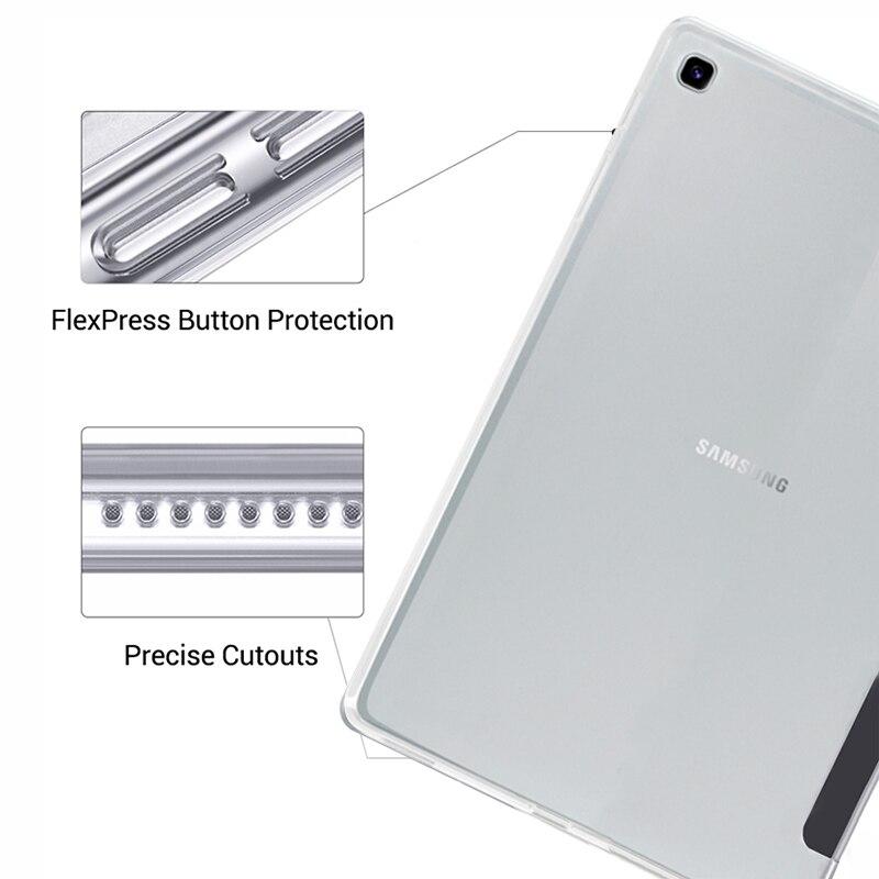 Чехол для планшета Samsung Galaxy Tab A 10,1 дюйма, кожаный чехол 2019 дюйма с функцией умного сна и пробуждения, тройная подставка, однотонный чехол, Обложка для телефона/T515-3