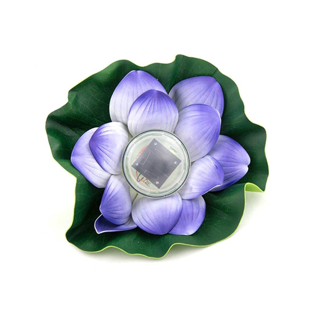 Environmental Protection Waterproof Closed Ring Waterproof Pond Water Drift Lamp Solar Lotus Lamp Wish Lotus Leaf Lamp