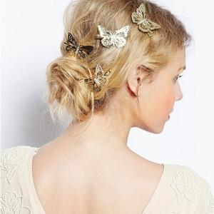 2 шт полые золотые бабочки заколки для волос для девочек ретро заколки для волос винтажные модные аксессуары для укладки волос Прямая поста...