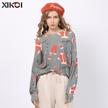 XIKOI Autumn Winter Women Knitted Christmas Print