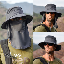 Fisherman hat male mountaineering hiking hat summer outdoor quick-drying sunscreen hat fishing breathable sunscreen hat female