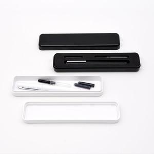 Image 5 - Caneta fonte youpin kaco branca, caixa de metal nas cores preta e branca para armazenamento de 0.3mm caneta para escrita, caneta de assinatura