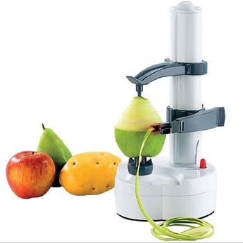 Máquina peladora de frutas automática, máquina peladora de verduras y frutas multifunción, cortador de cocina, pelador de manzana Papa, batería 4 5th