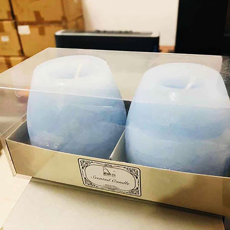 2 pièces bleu romantique cadeau fausses bougies sans fumée mariage licorne bougies bois mèche anniversaire gâteau Candels décoration de la maison ALZ742