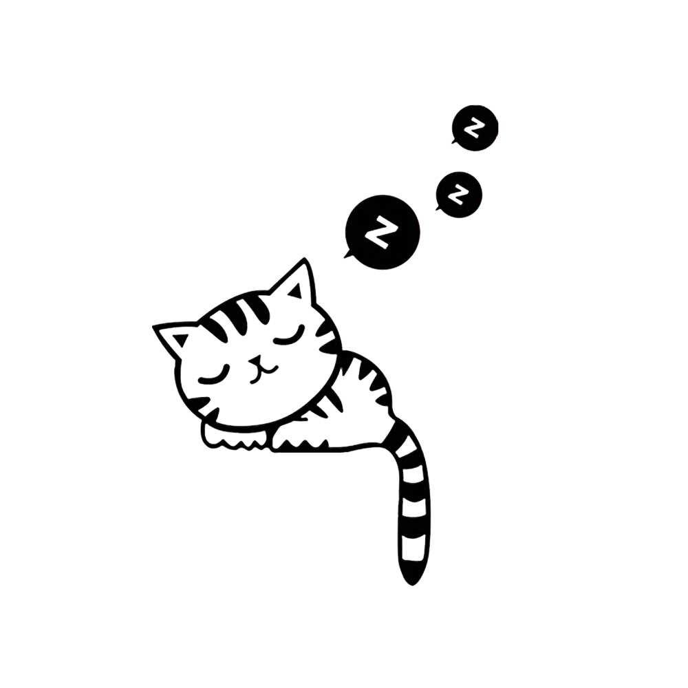 مضحك لطيف النوم القط التبديل ملصقات ملصقات جدار ديكور المنزل غرفة نوم غرفة المعيشة صالون الديكور