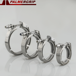 """Image 1 - Universal Stainless steel  2"""" 2.5"""" 3"""" 3.5"""" exhaust downpipe v band clamp v band clamps V clamp clip 1.5 2.5 3 3.5 inch"""