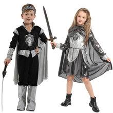 Umorden Child Kids Medieval Crusader Warrior Knight Costume Cosplay Fantasia Halloween Costumes for Girls Boys