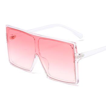 Damskie kwadratowe okulary przeciwsłoneczne popularne wszystkie mecze gradientowe szkła okulary męskie magazyn mody rekwizyty do dekoracji okulary UV400 tanie i dobre opinie Anti-glare Polaryzacja Anti-Fog Anty-uv Pyłoszczelna Ochrona przed promieniowaniem Adult