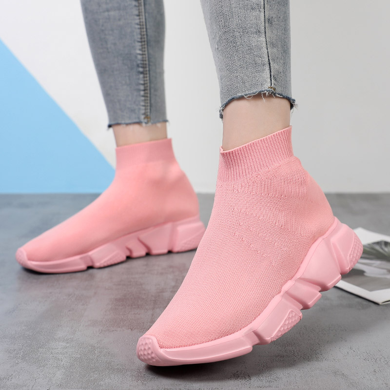 Couple Breathable Running Shoes Men Lightweight Socks Sneakers Women Casual Socks Shoes Sports Walking Jogging Footwear Male