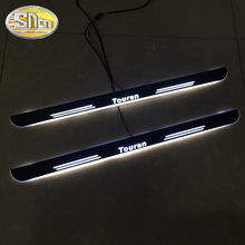 4Pcs For Volkswagen Touran 2010-2019 Trim Pedal Car Exterior Parts LED Door Sill Scuff Plate Pathway Dynamic Streamer light