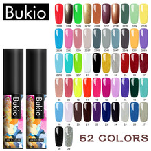 Bukio 5 Ml Warna Gel Nail Polish Rendam Off UV LED Nail Lacquer 60 Warna Glitter Rainbow Gel Varnish Gula warna Enamel Nail Art(China)