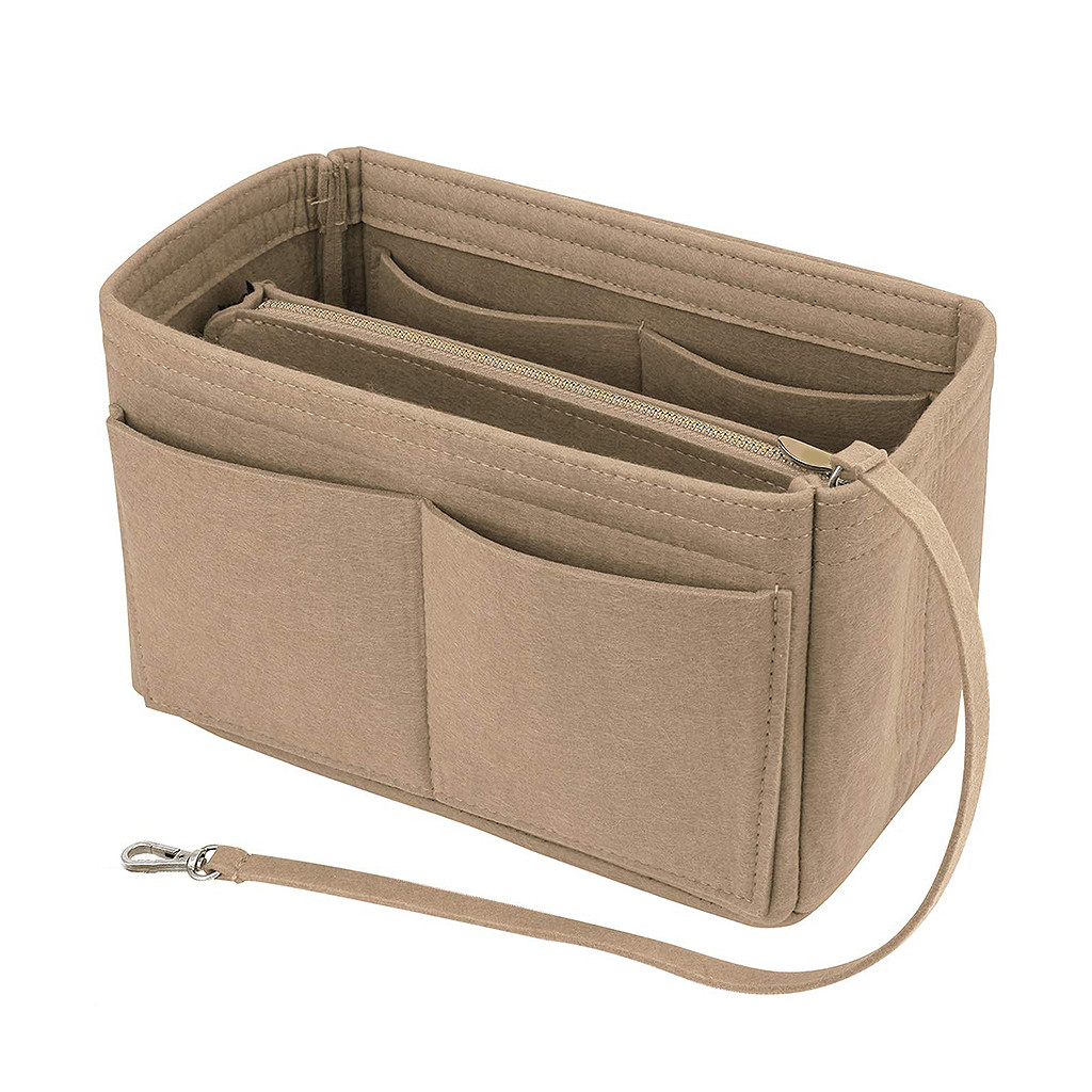 Войлочная сумка на молнии с несколькими карманами, сумочка, органайзер, держатель для макияжа, дорожная сумка, косметичка, сумки и чехлы, Пря...