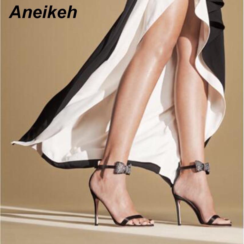 Sandalias De Tac/ón Alto para Mujer Zapatos De Fiesta De Boda con Correa De Tobillo De Gladiador con Estilo Zapatos De Mujer