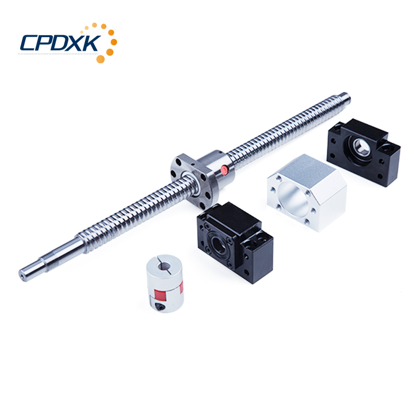 CNC Ball Screw SFU2005 Ball Screw L1300mm +BKBF15 End Machining + Ball Screw Nut 2005+ Coupling + Supporter for CNC Parts