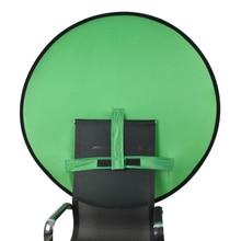 Arrière plan de photographie décran vert de 75/110cm, tissu Polyester de haute Saturation de couleur pour Studio de Photo de vidéo en direct