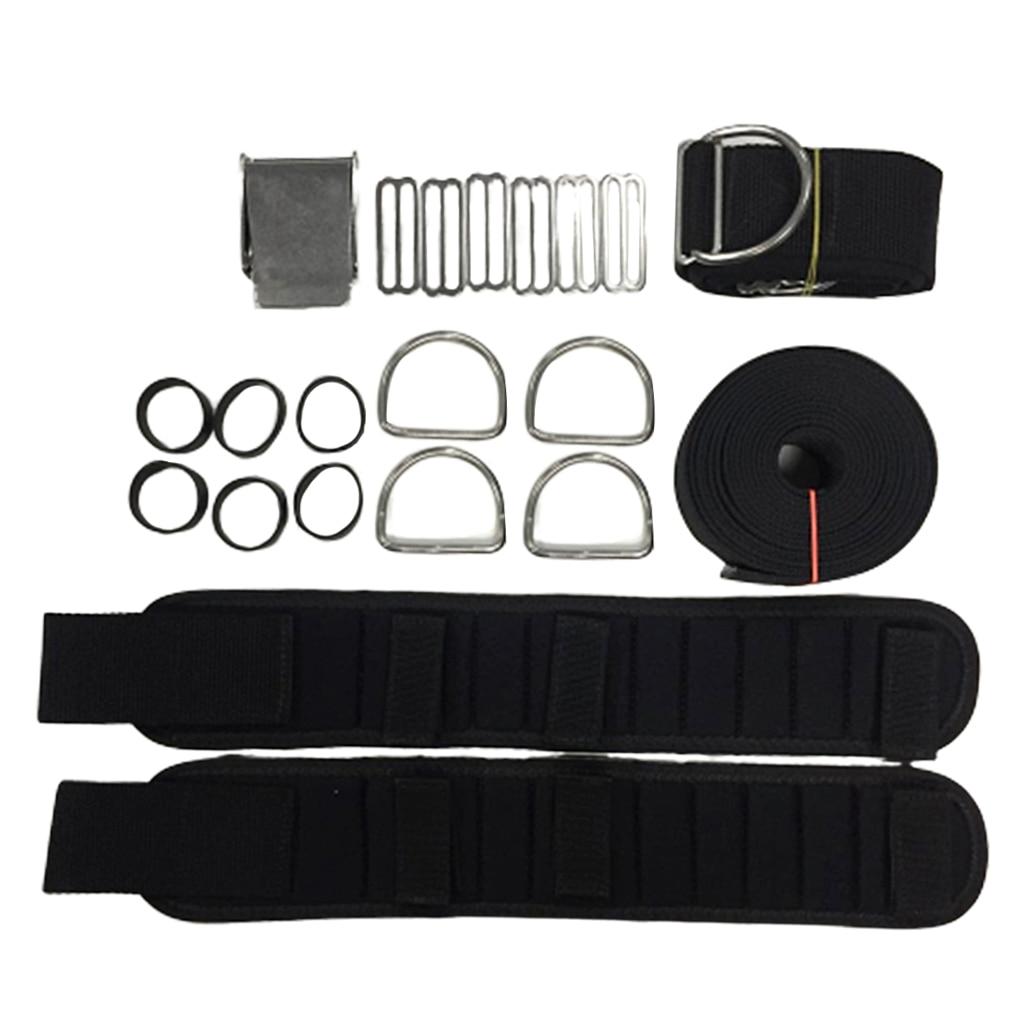 Harnais de plaque arrière de plongée sous-marine support beignet BCD sangle d'entrejambe ceinture de poids accessoires de plongée