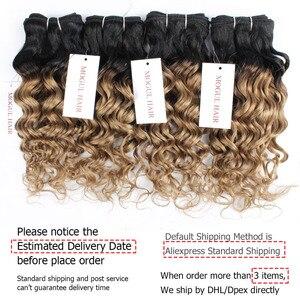 Image 4 - MOGUL włosów 4/6 wiązki 50 g/sztuka T 1B 27 ciemny odrost miód blond Ombre brazylijski Water Wave Remy ludzki włos krótki Bob Style