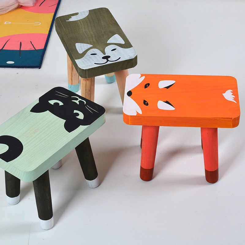 Dutch Decor Zitzak.Wood Baby Chair Nordic Baby Seat Wooden Cartoon Sitting Chair