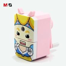 M & G calidad kawaii cómic patrón mecánico sacapuntas para suministros escolares lindo sacapuntas regalo de oficina estacionario para niñas