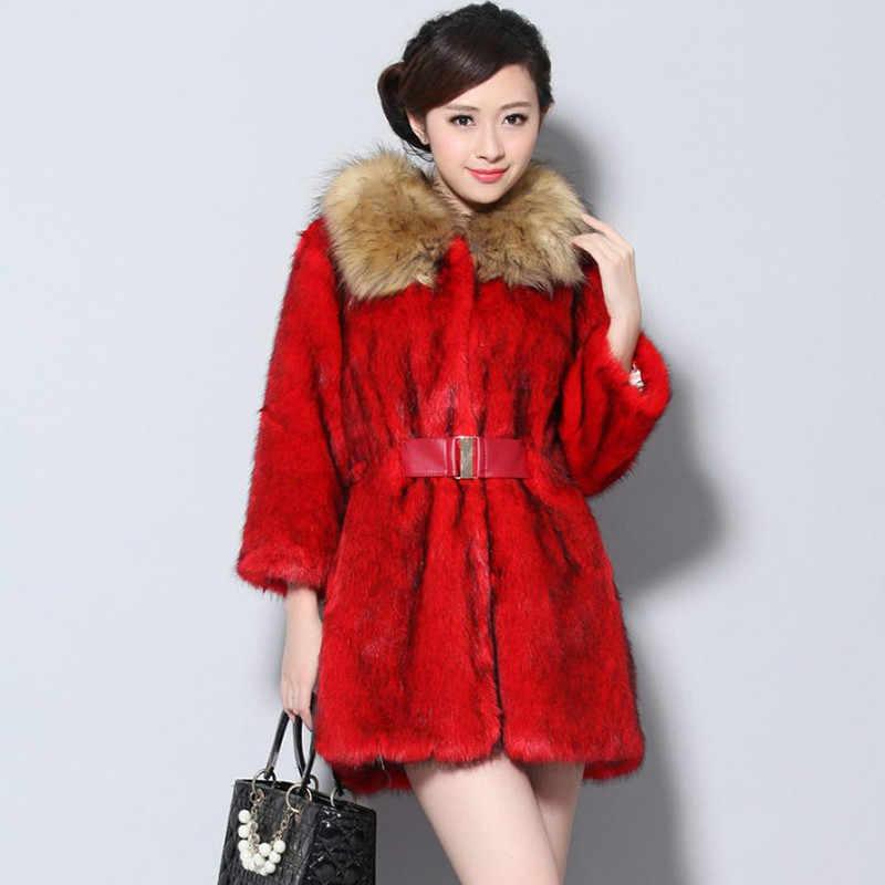 フェイクミンクの毛皮のコート女性の秋の冬コート女性服 2020 ヴィンテージ warmtops プラスサイズを fourrure ファム ZT4779