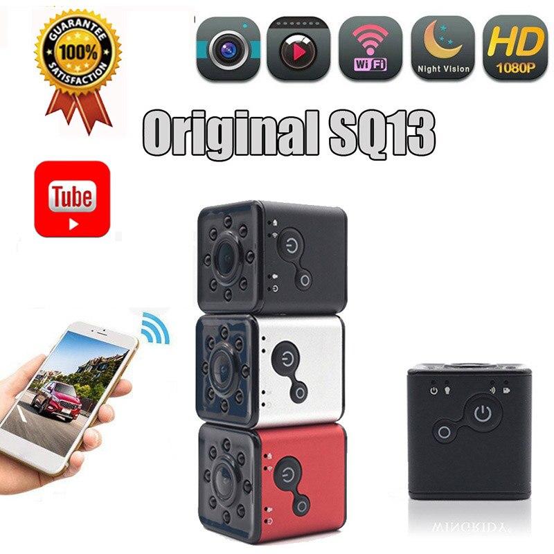 P2P Mini Camera IP WIFI Camera SQ13 SQ11 FULL HD 1080P Night Vision Waterproof Shell CMOS Sensor Recorder Camcorder Pk Sq16 Sq11