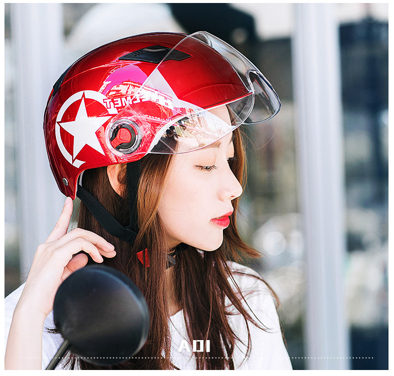 Motorcycle Helmet Scooter Bike Open Face Half Anti-UV Safety Motocross Helmets