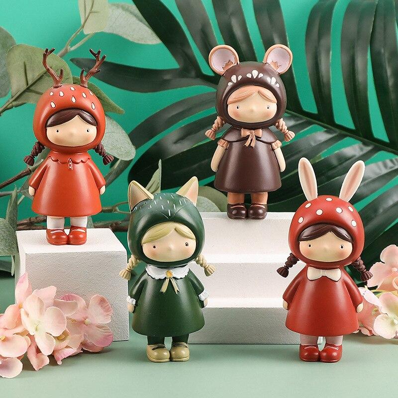 Mushroom Girl Blind Box Anime Figure Gift Toys Cute Resin Decoration Girl Heart Creative Home Decoration Crafts Cartoon Doll
