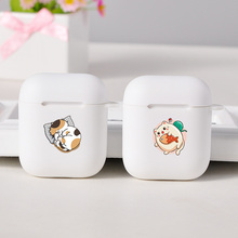 Soft White Air Pods Case Cartoon Cute For Apple Airpods 1/2 Case Protective Bluetooth Earphone Accessories For AirPods 1/2 Case 3d lucky rat cartoon bluetooth earphone case for airpods pro cute accessories protective cover for apple air pods 3 silicone