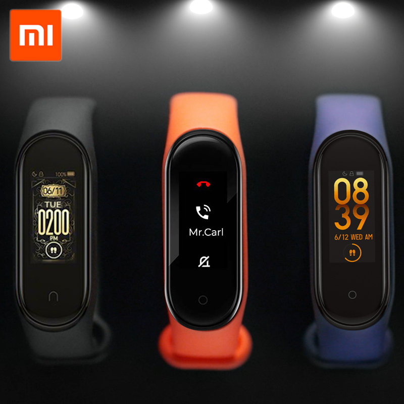 Original Xiaomi Mi Band 4 Smart Bracelet Miband 4 Global Version Fitness Tracker Heart Rate Monitor Bluetooth Wristband Swimming image