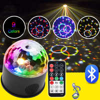 USB DJ Disco Ball Party Light Bluetooth 9W RGB LED Stage Light Effect Music Laser Strobe Light For Christmas Xmas Party Lighting