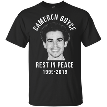 Cameron Boyce Short Sleeve Black T-shirt M-3XL Adult T-Shirt S-3Xl