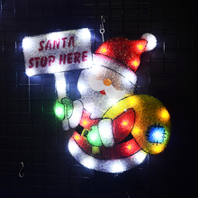 2D santa clause christmas lights indoor led decoration xmas tree lighting party room decor