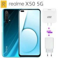 Realme X50 5G Mobile Phone 256G/128G ROM 12G/8G RAM 6.57 Snapdragon 765G Quad camera 64MP 4200mAh 30W NFC 120HZ 5G Cellphone
