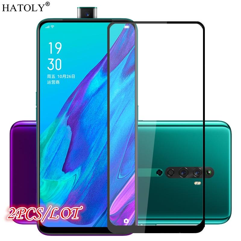 2PCS Glass On Reno 2Z Tempered Glass For Oppo Reno2 Z 2Z LCD Phone Screen Protector Full Glue Cover For Oppo Reno 2Z Glass 6.53