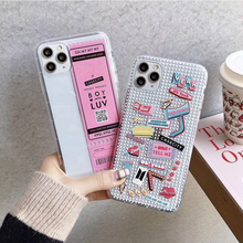 Ins Korean style Barcode concert Ticket Silicone case For
