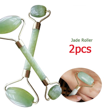2Pcs Double Head Jade Roller Facial Massage Face Slimming Body Head Neck Hands Body Skin Relaxation
