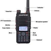 """vhf uhf 2pcs Baofeng DM-1801 Ham Radio מכשיר הקשר 50 ק""""מ VHF UHF כפול זמן חריץ DMR רדיו דיגיטלי אנלוגי DM 1801 טאקי Walki מקמ""""ש (2)"""