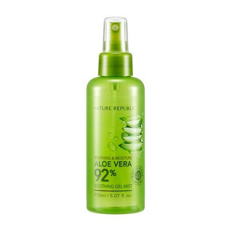 NATURE REPUBLIC Soothing Moisture Aloe Vera 92% Soothing Gel Mist 150ml Moisturizing Serum Face Whitening Essence Acne Treatment