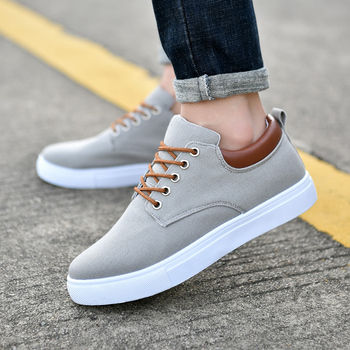 Extra large size men shoes plus fat 45 casual tide low lace-up 46 canvas breathable 47 mens board