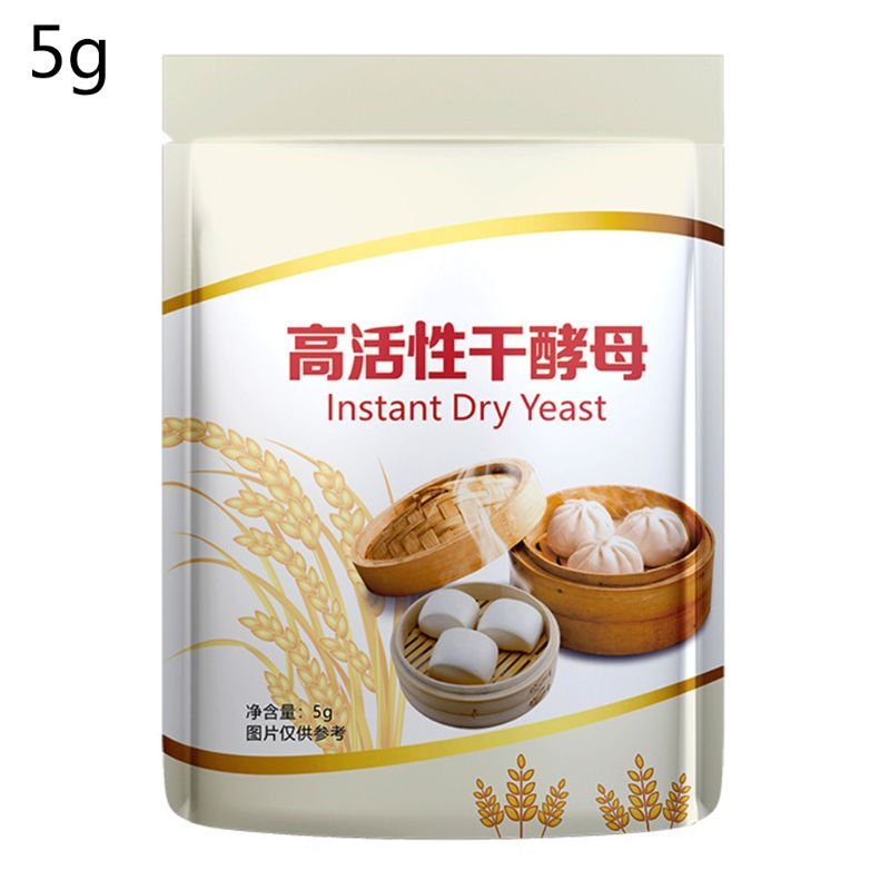 10pcs Instant Dry Yeast Low Sugar Active Bread Yeast Kitchen Baking Supplies 50g