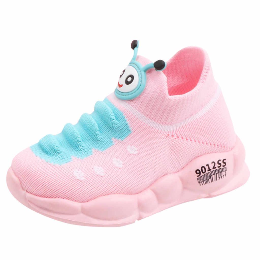בנות בני סניקרס ספורט למתוח רשת נעלי קריקטורה תינוק ילדי תינוק ריצה סניקרס zapatilla דה niño calçado menina # XP25