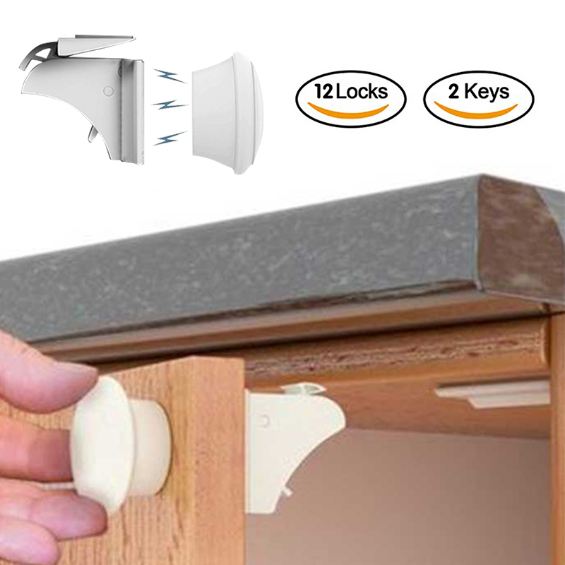 Child Protection Baby Safety Magnetic Lock Infant Security Cabinet Drawer Door Closer Child Lock Kids Wardrobe Invisible Locks