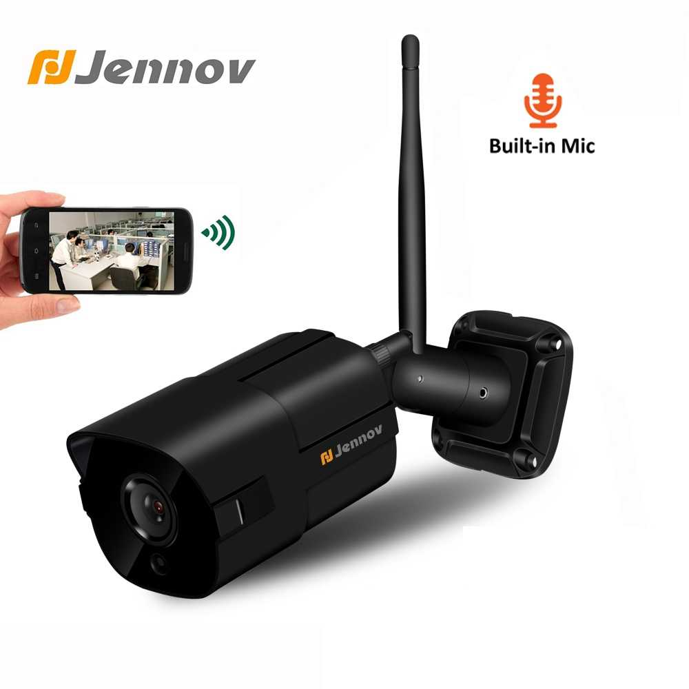 Jennov WIFI IP Kamera Outdoor 1080P ONVIF Keamanan Nirkabel Camara Rumah CCTV Video Surveillance Kit Aduio Merekam Tahan Air Cam